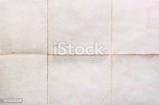 Old sheet of paper folded in six, texture background