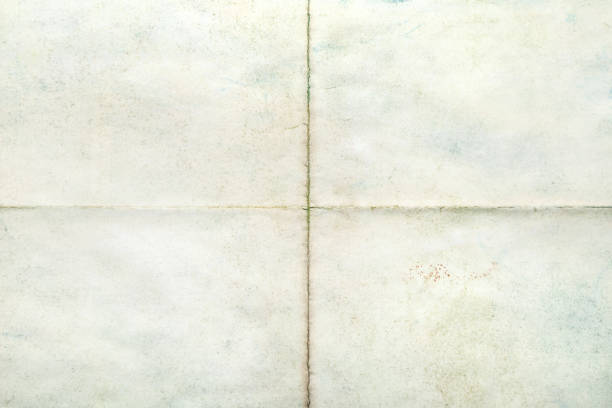 blank surface, old paper sheet with creases - folded stock photos and pictures