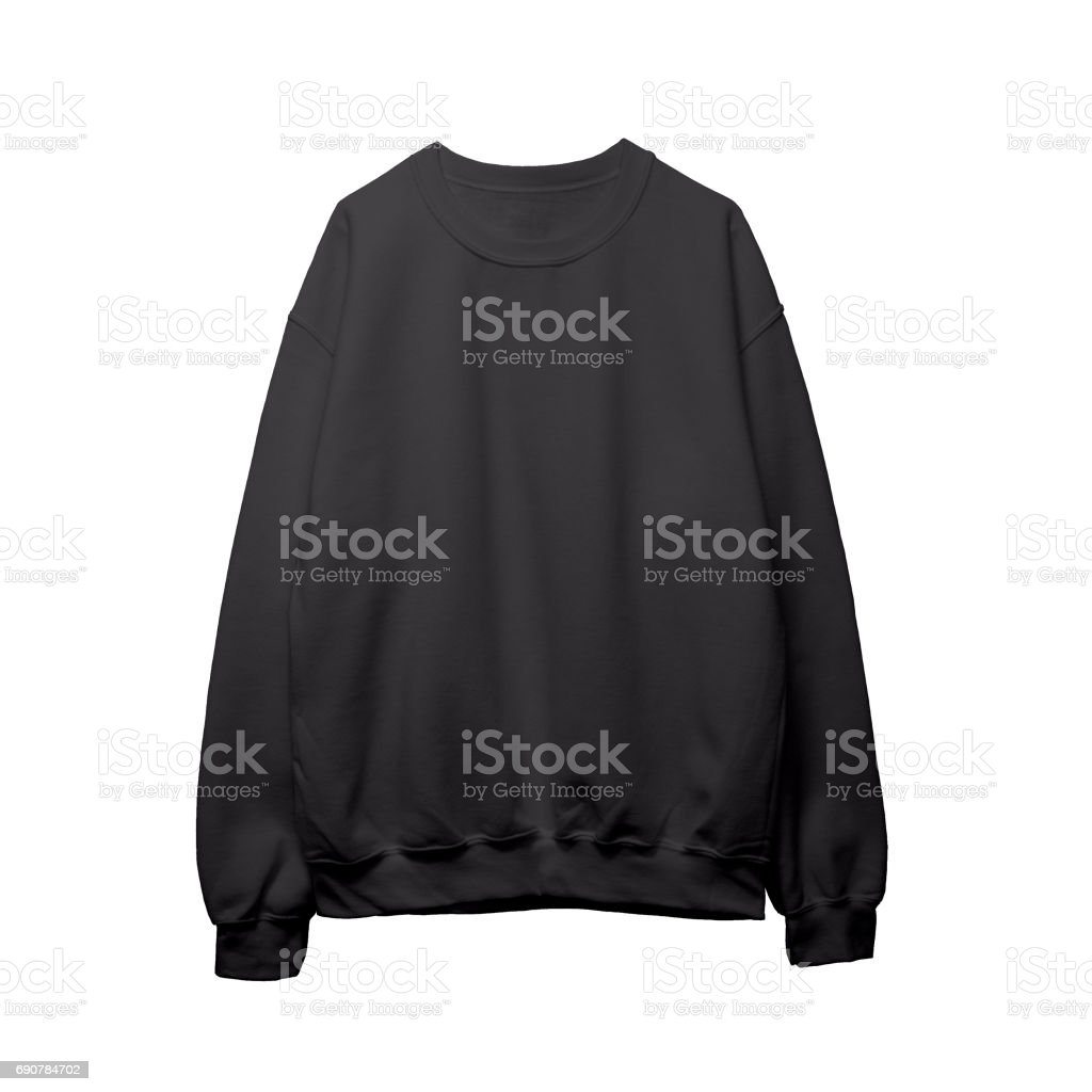 Blank Tshirt Template | Blank Sweatshirt Black Color Mock Up Template Front Stock Fotografie