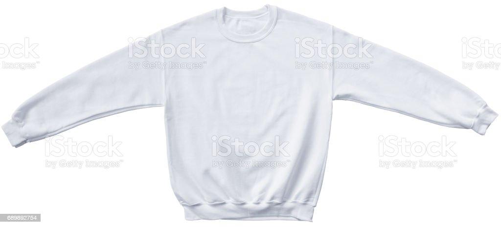 Blank sweatshirt white color mock up template stock photo
