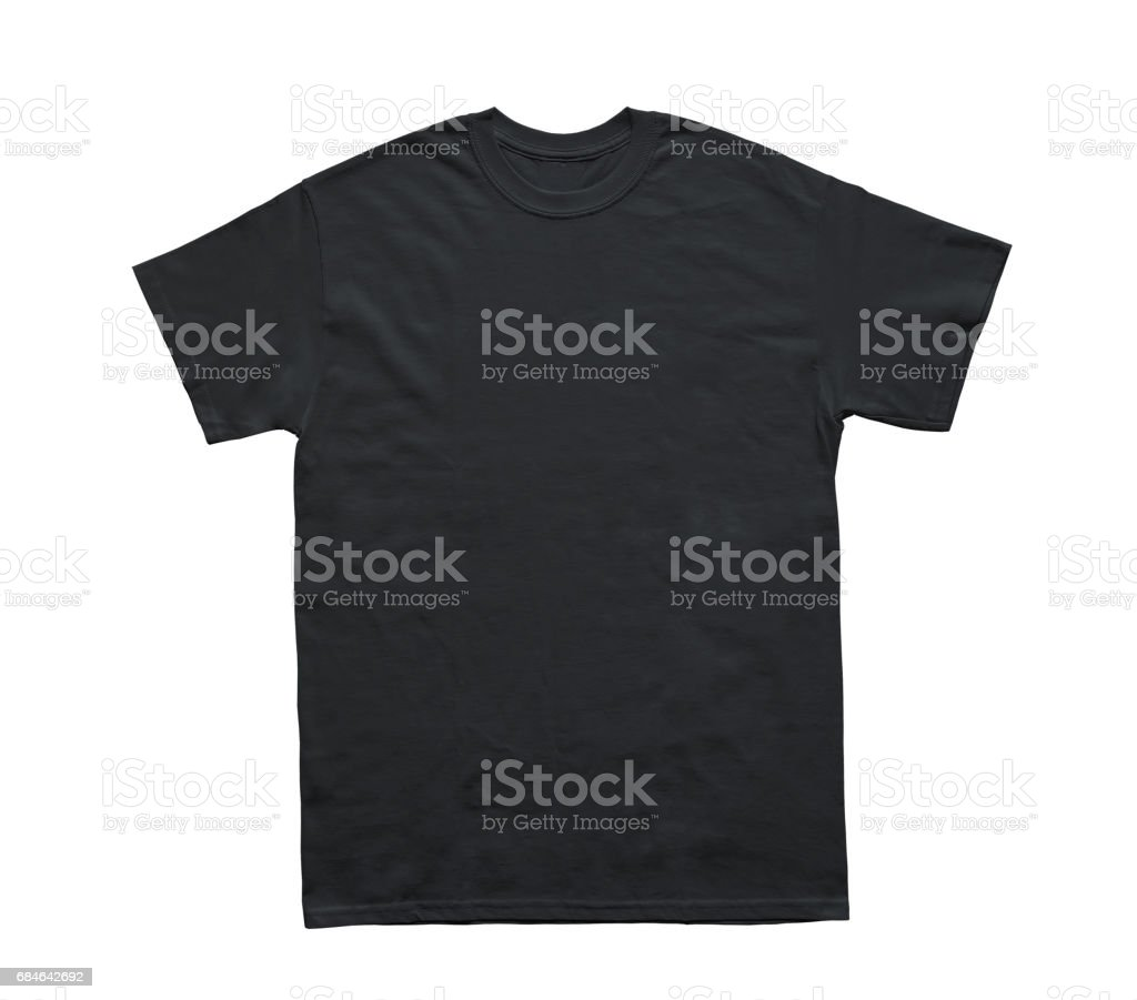 Blank T Shirt color black template stock photo