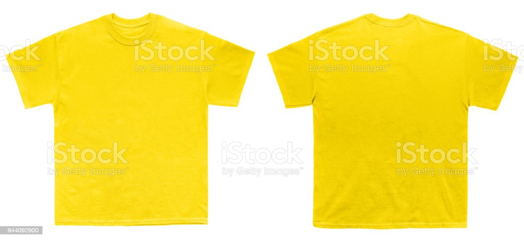Blank T Shirt Color Daisy Template Front And Back View Stock Photo ...
