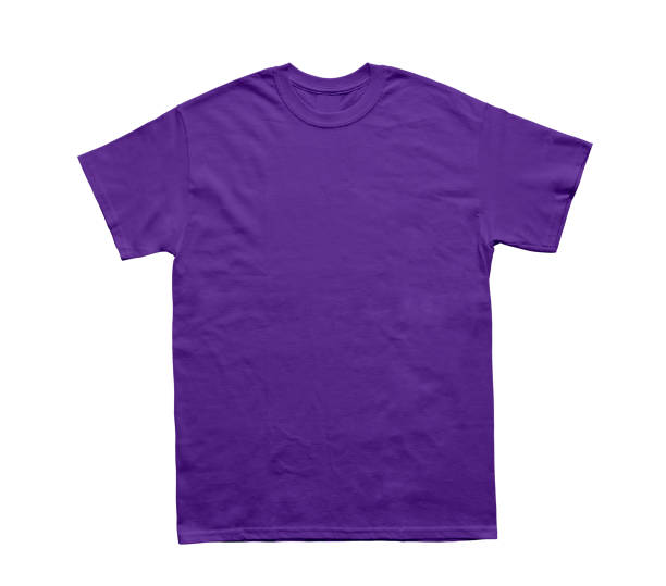 Blank T Shirt color purlpe stock photo