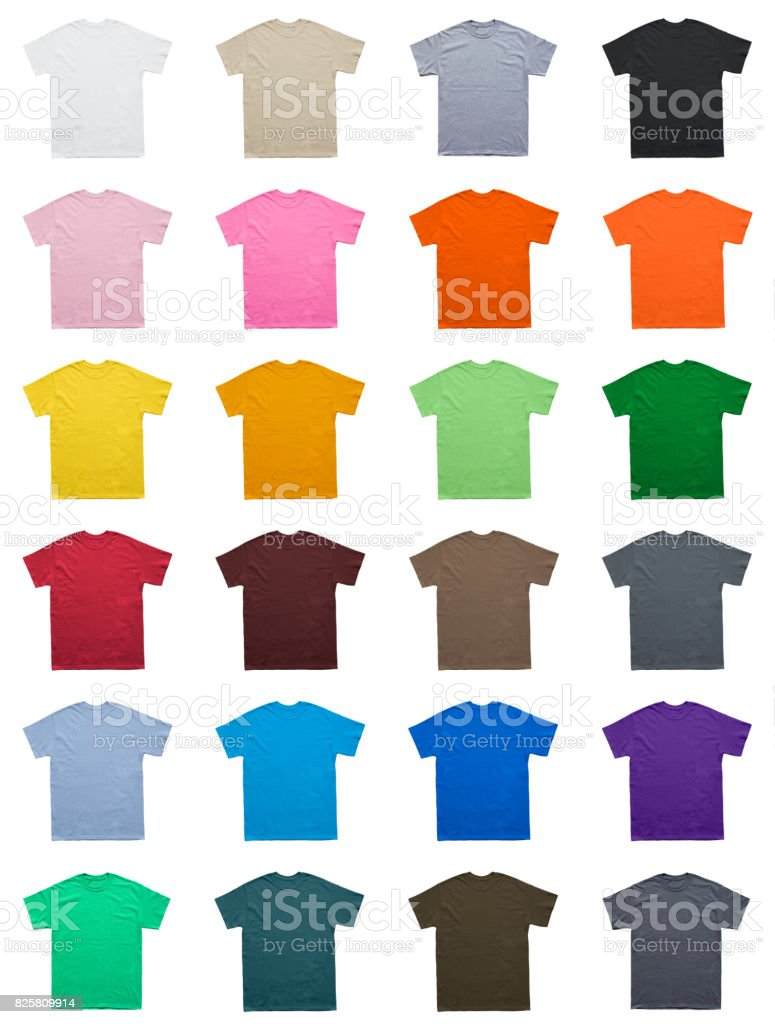 Blank T Shirt color set template stock photo
