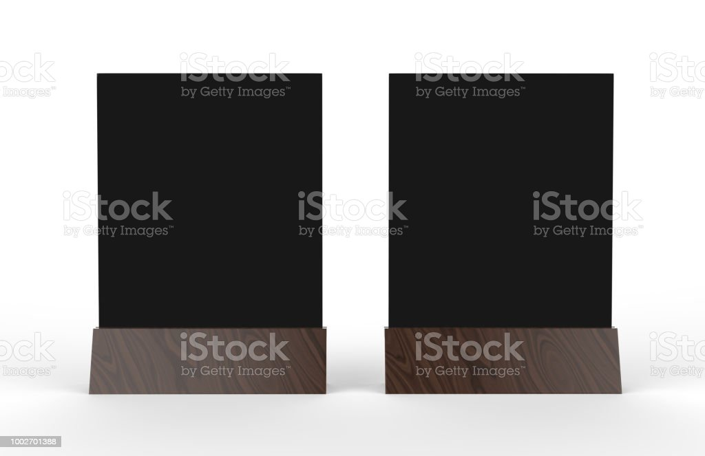 Blank Table Tent Mock Up Template On Isolated White Background Stand - Bar table tents