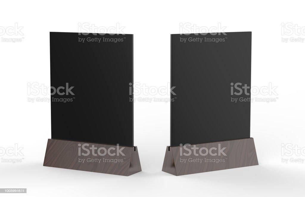 空白のテーブル テント アクリル テント カード使用しメニュー バー