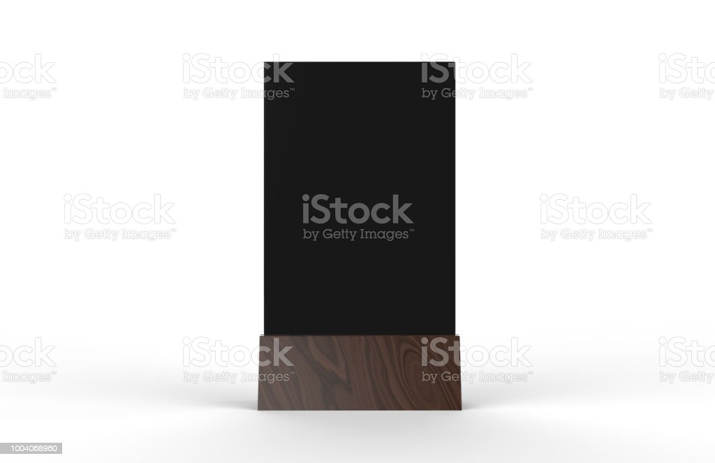 Blank Table Tent Mock Up Template On Isolated White Background Stand - Table tent card stock