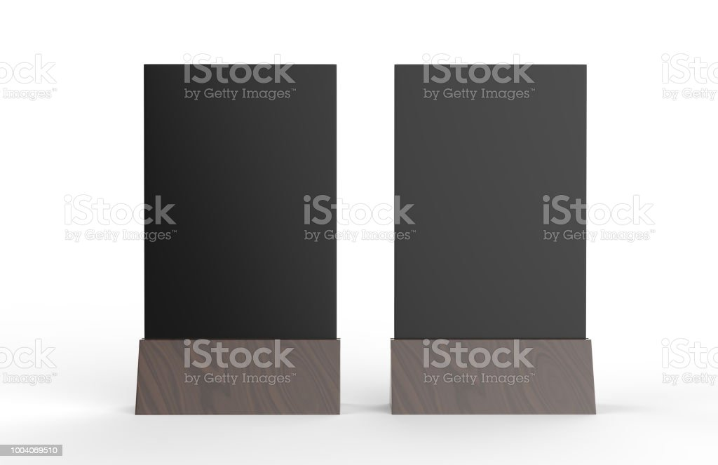 Blank Table Tent Mock Up Template On Isolated White Background Stand - Table tent stands