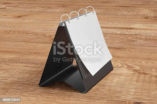 Blank Table Top Flip Chart Easel Binder Stock Photo & More Pictures of Backgrounds