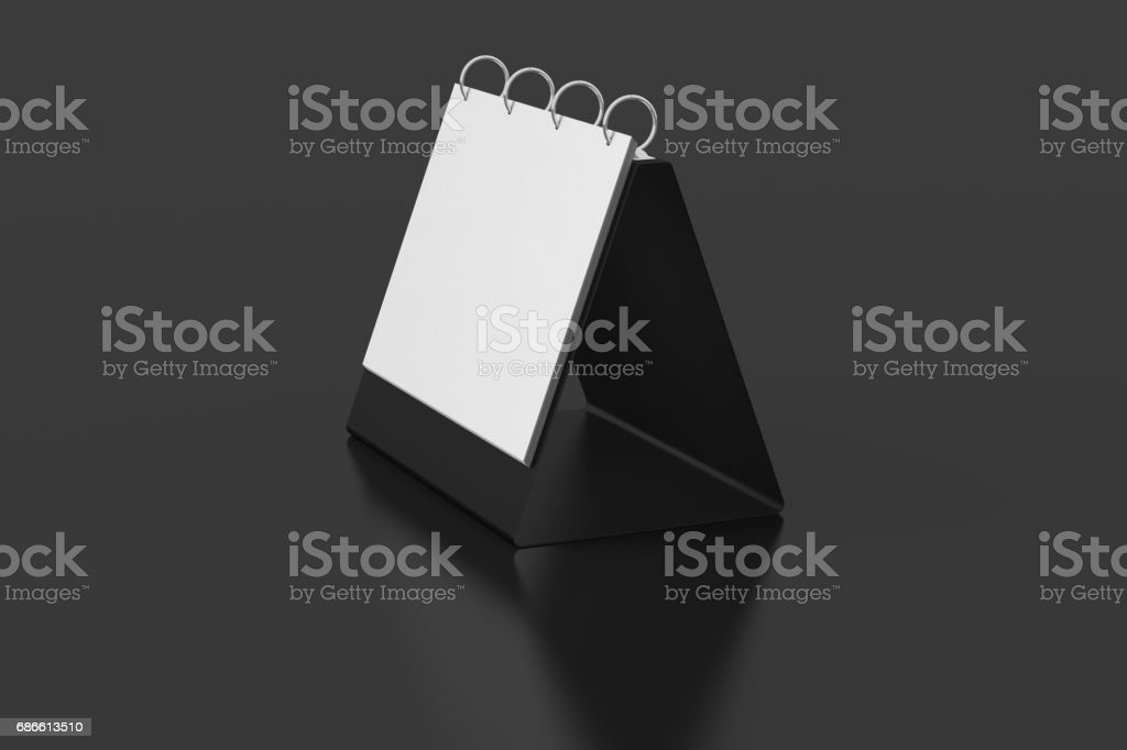 Blank table top flip chart easel binder royalty-free stock photo