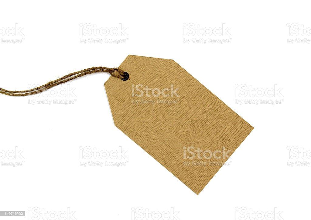 Blank tag on white background stock photo