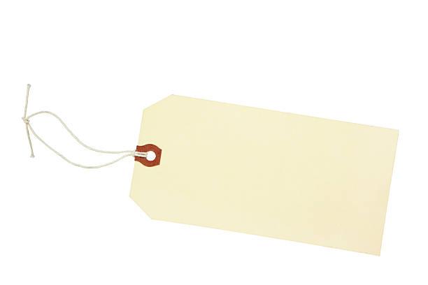 空白のタグ ストックフォト