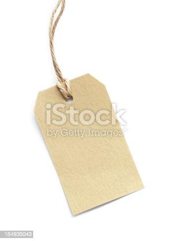 new clean karton label on white,