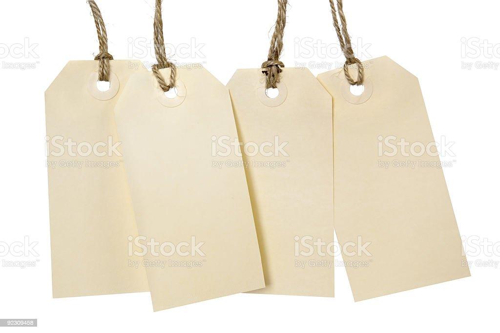 Blank Tags royalty-free stock photo