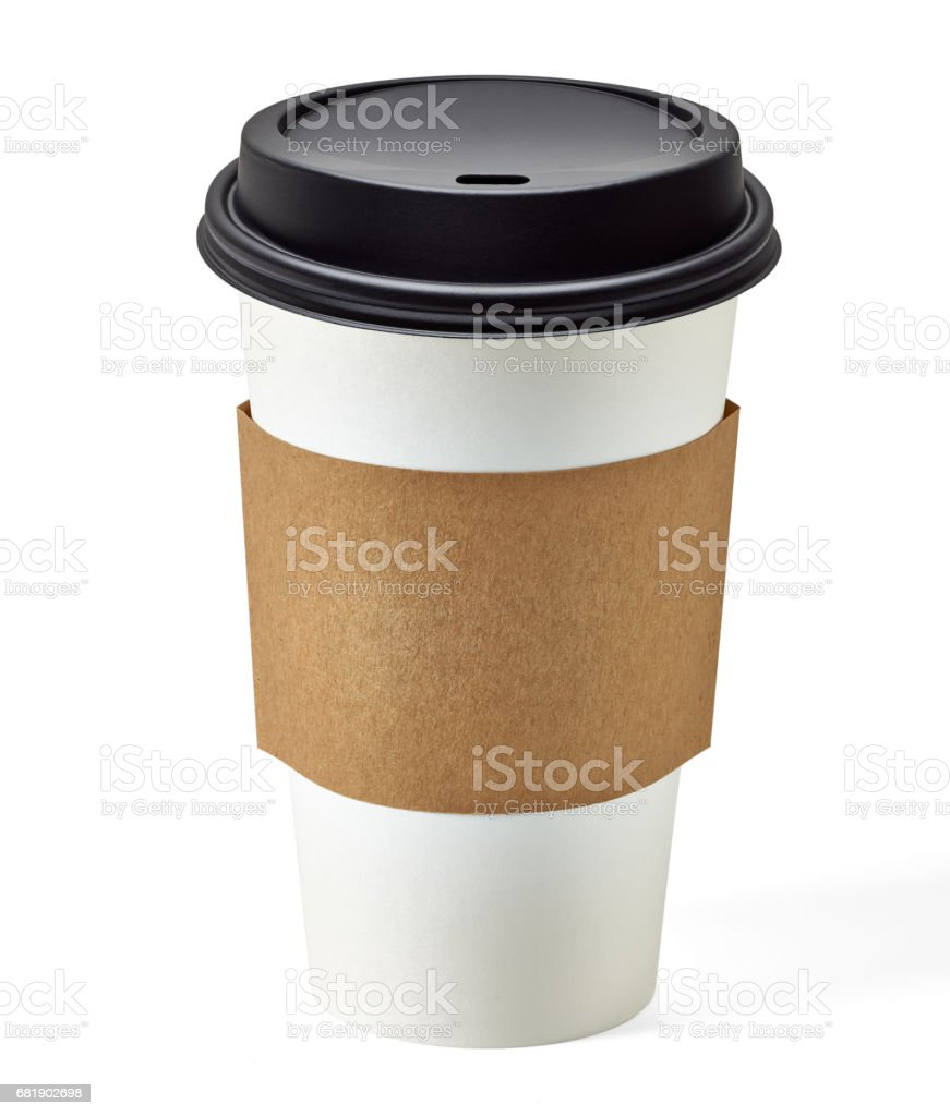 Blank take away coffee cup stock photo