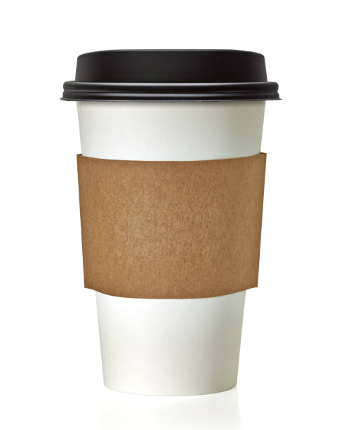 blank take away coffee cup - paper coffee cup stock photos and pictures