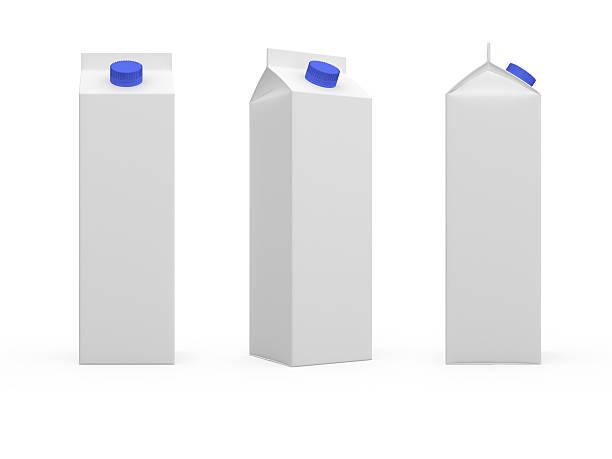 Boîte de lait ou de jus de fruits. - Photo
