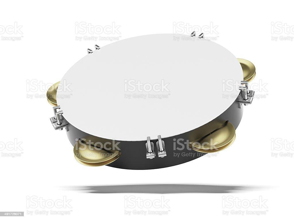 Blank tambourine stock photo