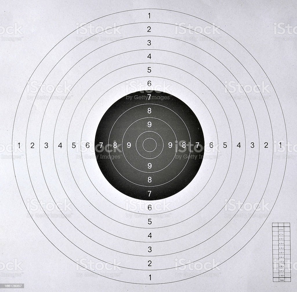 blank target  for shooting competition royalty-free stock photo