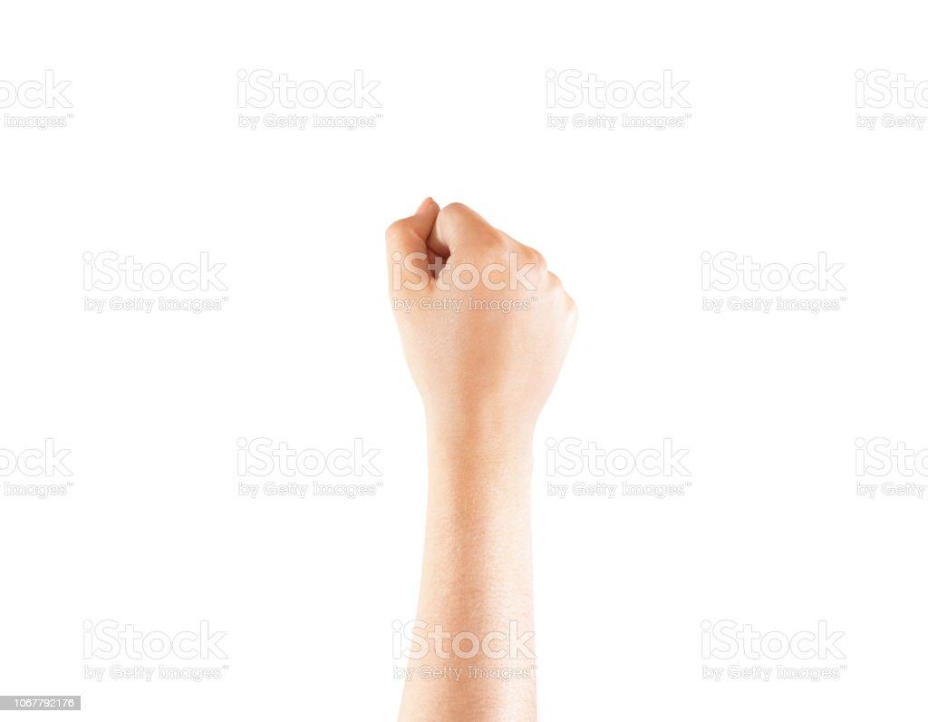 Blank tattoo wrist hand mock up, isolated stock photo