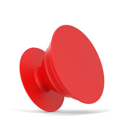 Blank telephone pop socket mockup