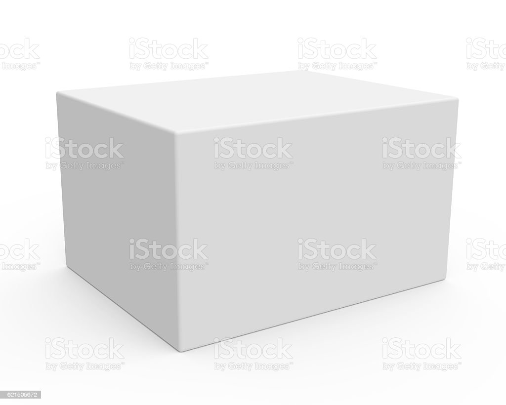 blank template box model Lizenzfreies stock-foto