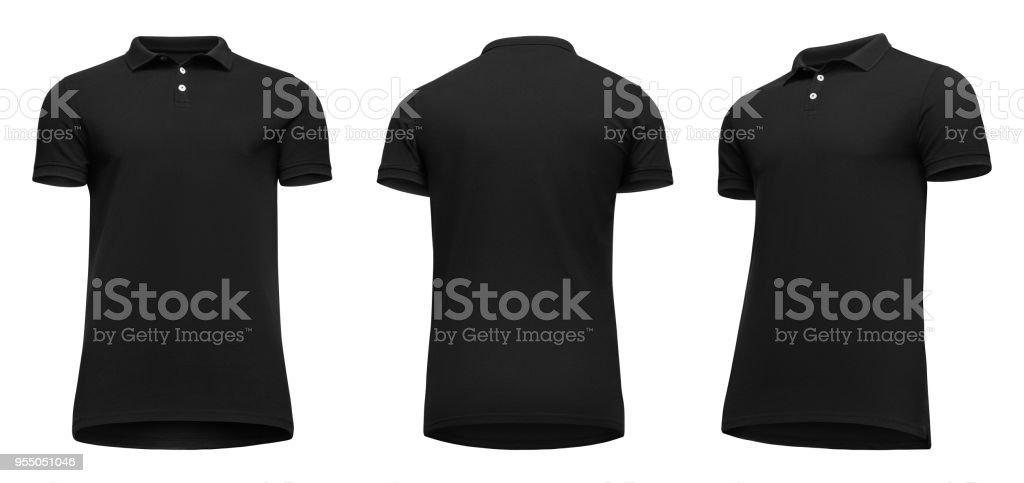acheter en ligne 7cb52 85f57 Photo libre de droit de Manches Courtes Tshirt Polo Noir ...