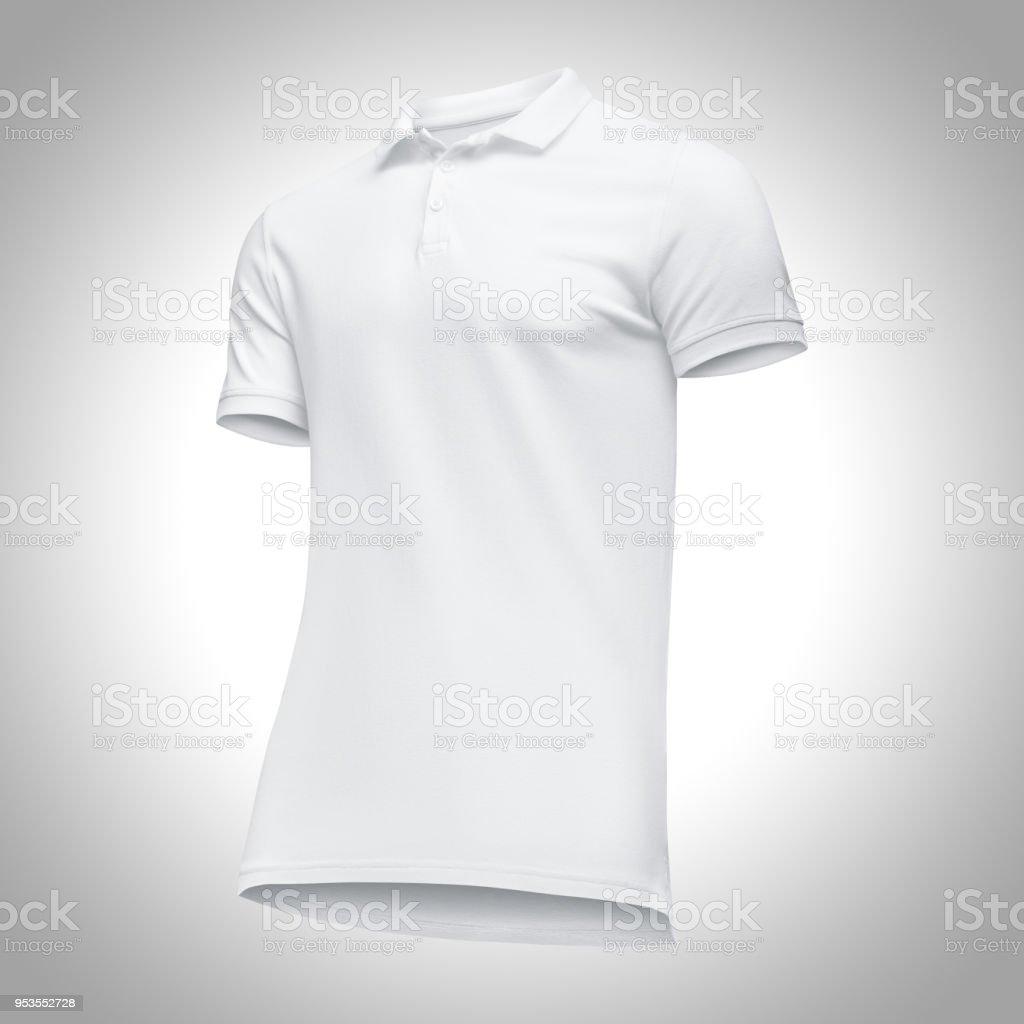 b6da60458 Plantilla En Blanco Los Hombres Camisa Polo Blanca Manga Corta Vista ...
