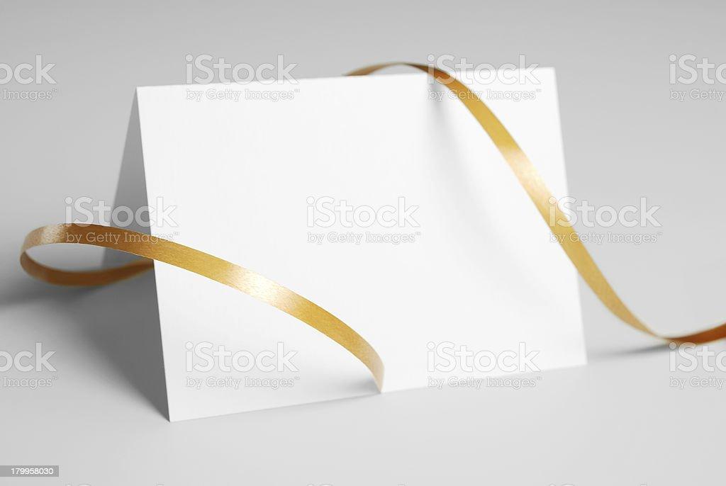 Vierge carte de remerciement avec ruban d'or - Photo