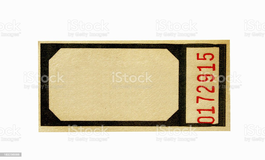Blank Ticket royalty-free stock photo