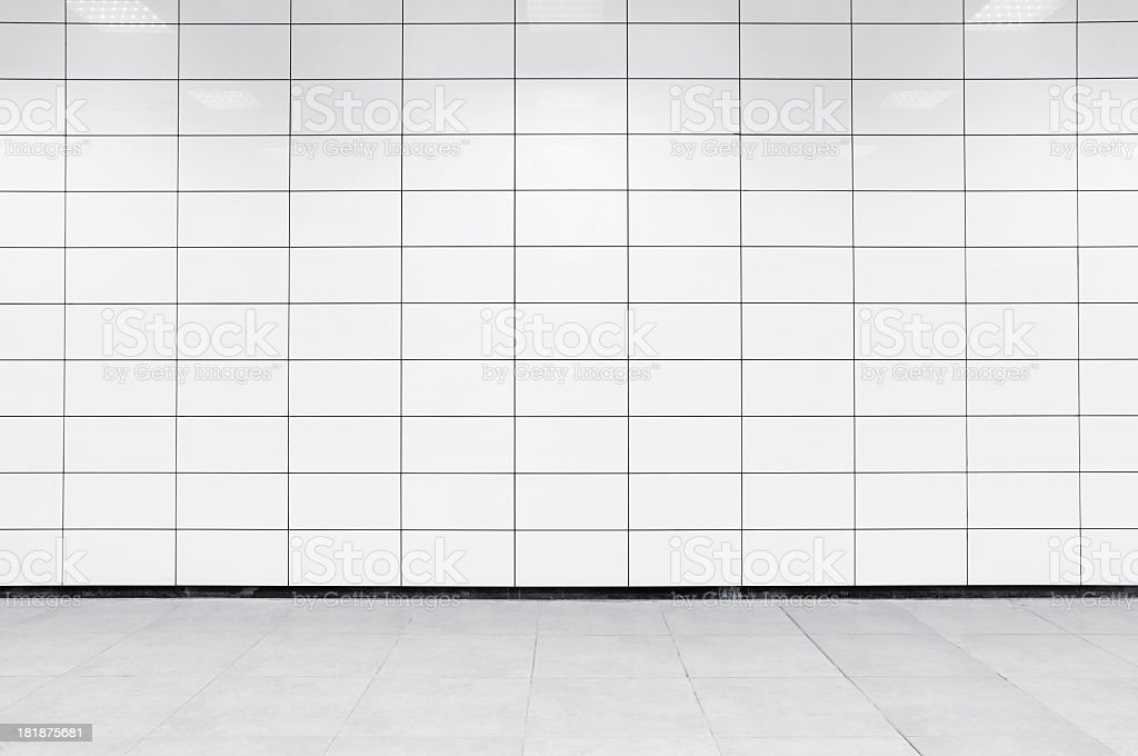 Blank tile wall XL stock photo