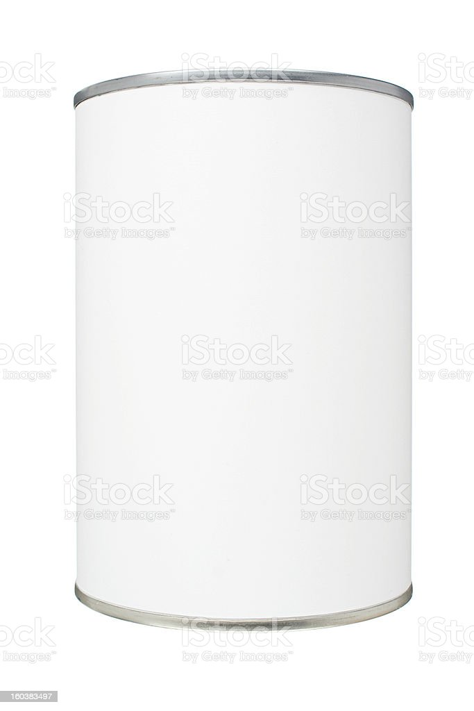 Blank Tin Can stock photo