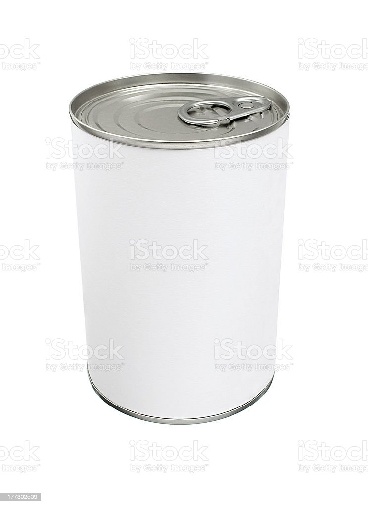 Blank Tin Can royalty-free stock photo
