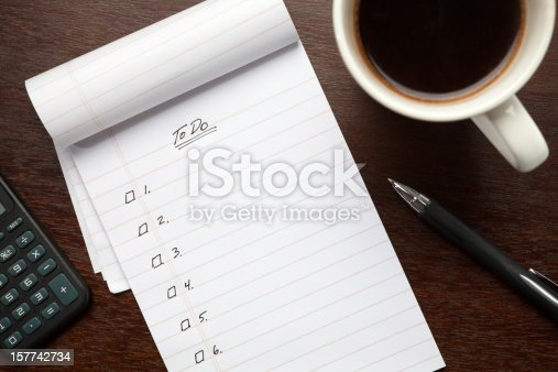 A blank notepad except for numbered spaces is ready to be customized. Canon 5D MarkII