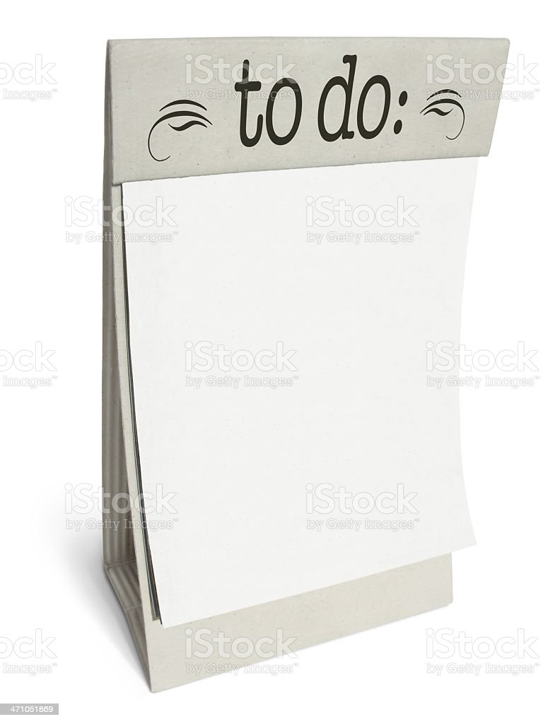 Blank 'To do:' list on a Cardboard Display royalty-free stock photo