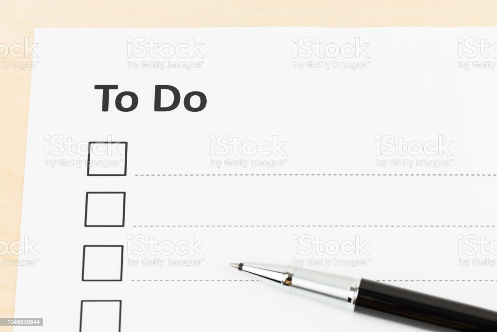 Blank to do list with pen