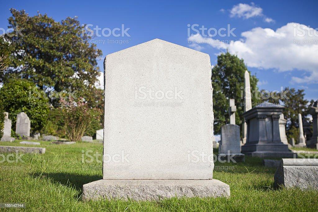 Blank Tombstone stock photo