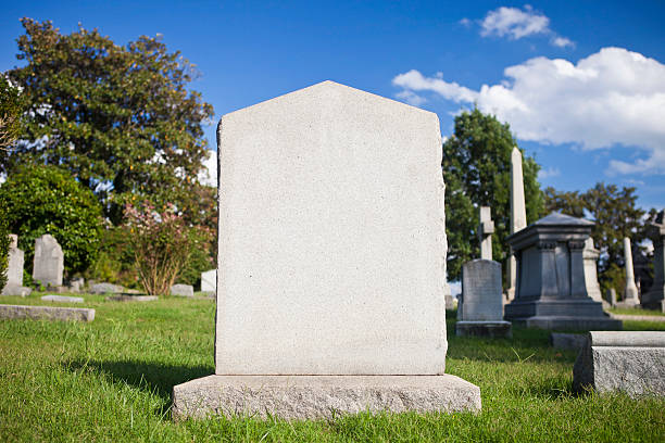 blank tombstone - cemetery stock photos and pictures