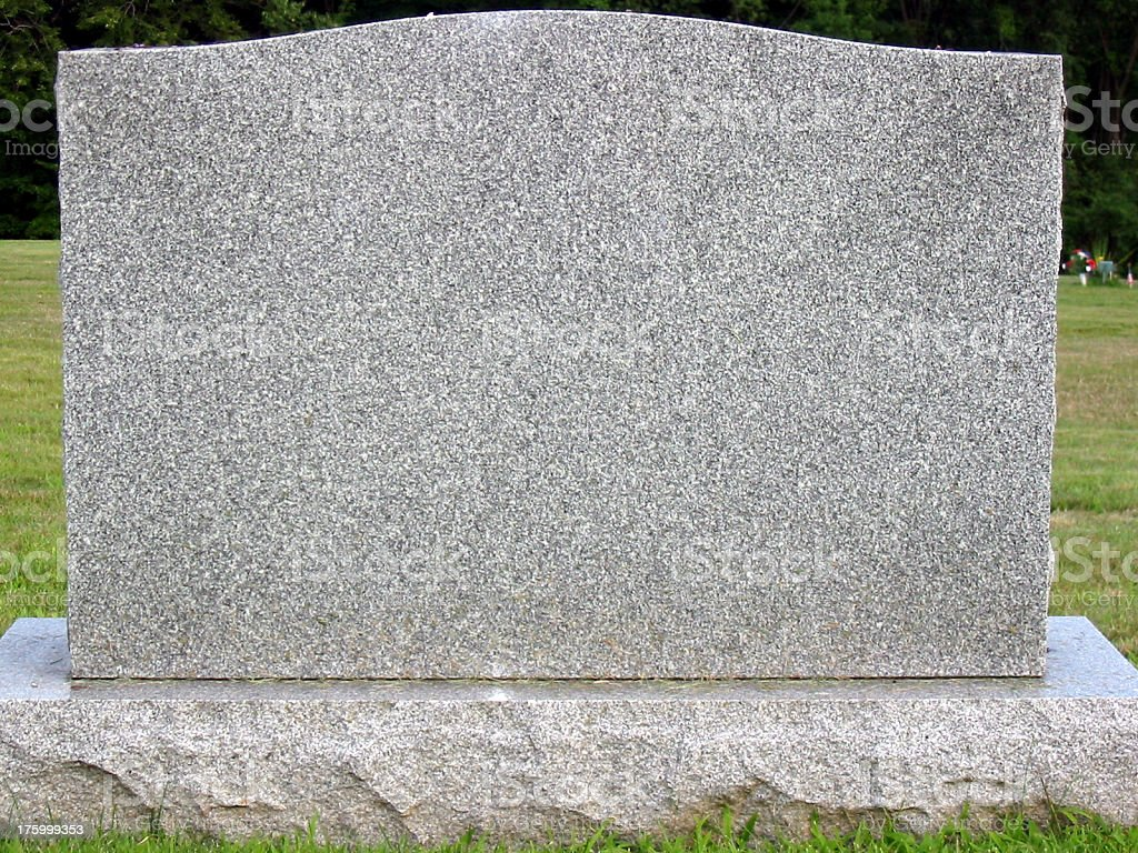 Blank Tombstone Stock Photo & More Pictures of Blank | iStock