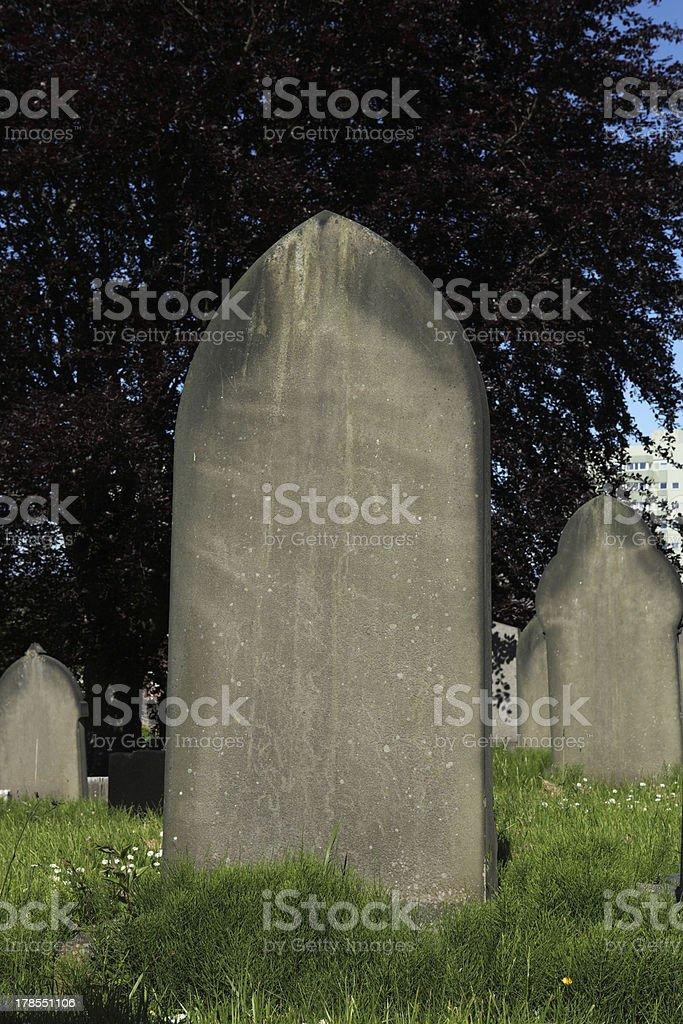 Blank tombstone royalty-free stock photo