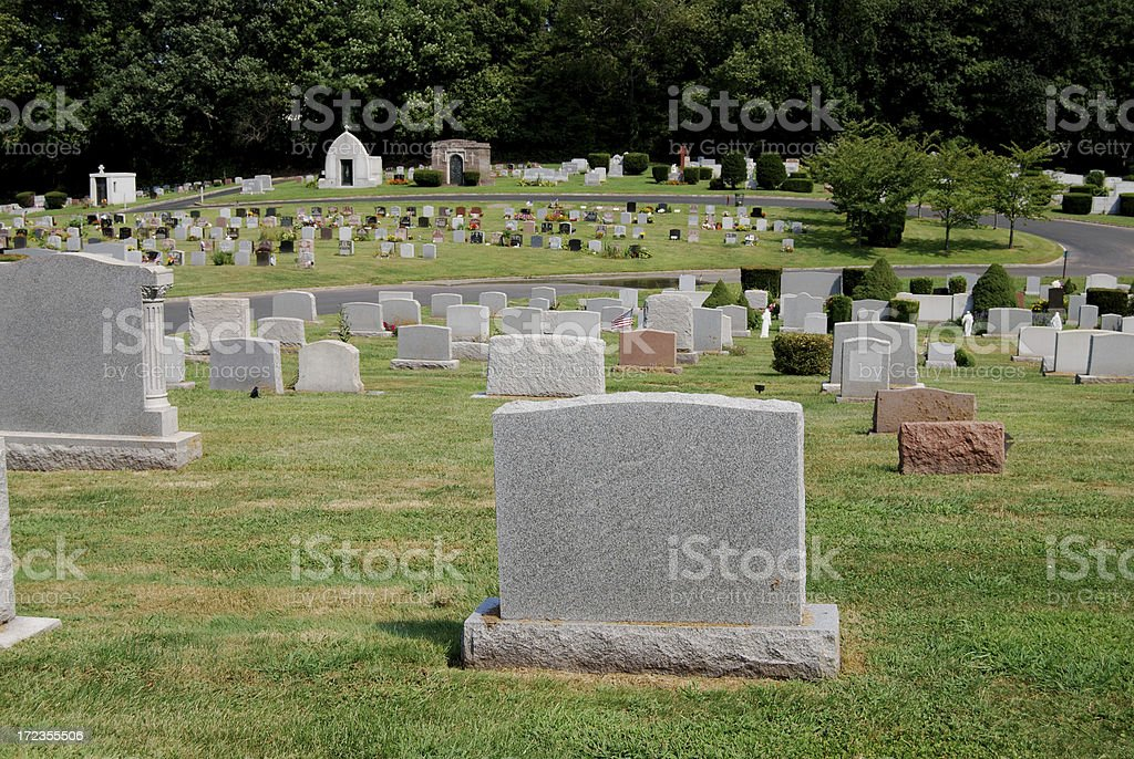 Blank Tombstones royalty-free stock photo