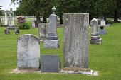 Old Tombstones from the turn of the century.