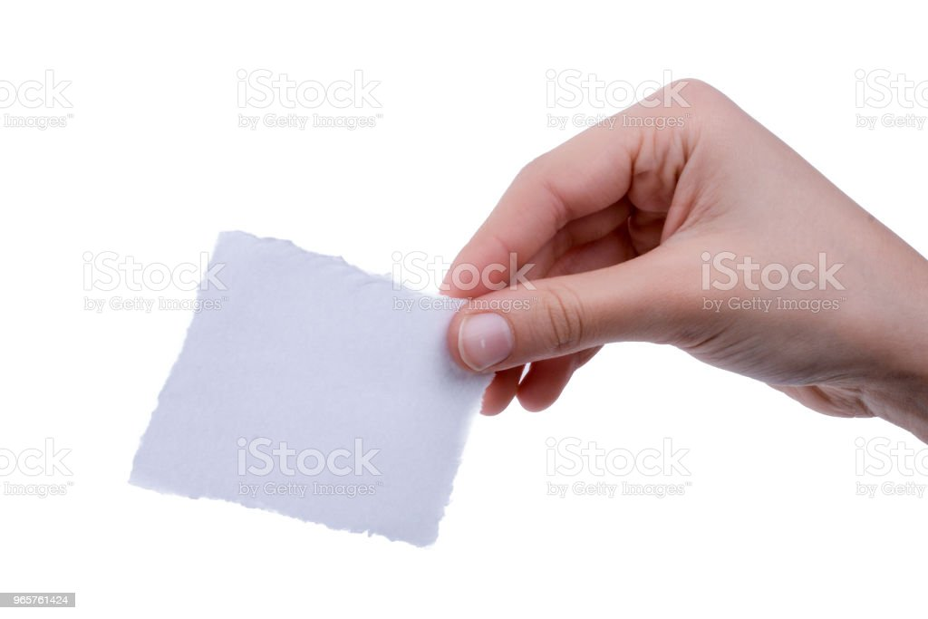 blank torn notepaper in hand - Royalty-free Backgrounds Stock Photo