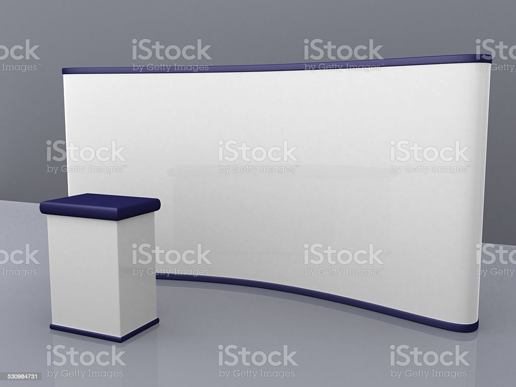 blank trade show booth for designers stock photo