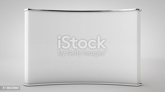 istock Blank trade show booth (Clean 3D Professional Render) 513633892