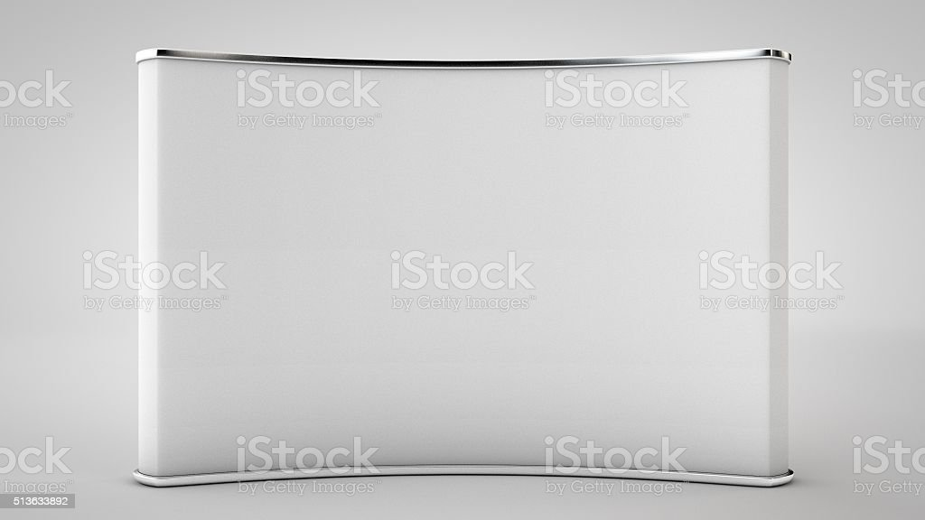 Cabine de Comércio em branco Mostrar (limpeza profissional 3D Render - foto de acervo