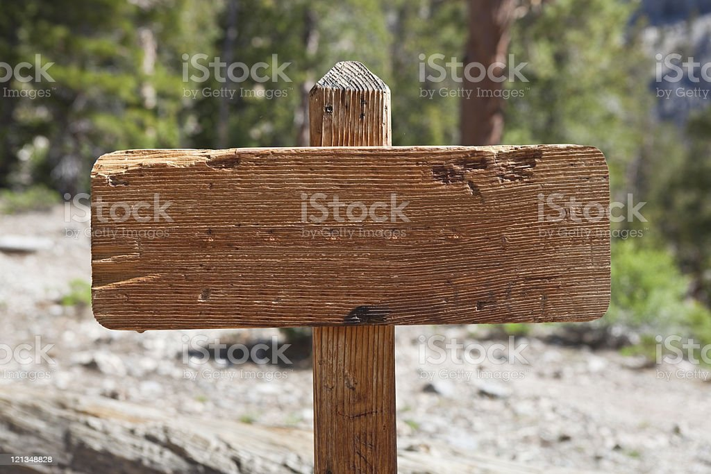 Blank Trail Sign stock photo