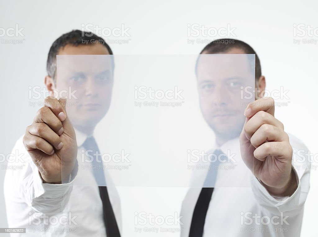 Blank Transparency Sheet royalty-free stock photo