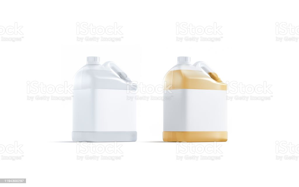 Blank Transparent Plastic Canister With Water And Juice Mock Up Stock Photo Download Image Now Istock