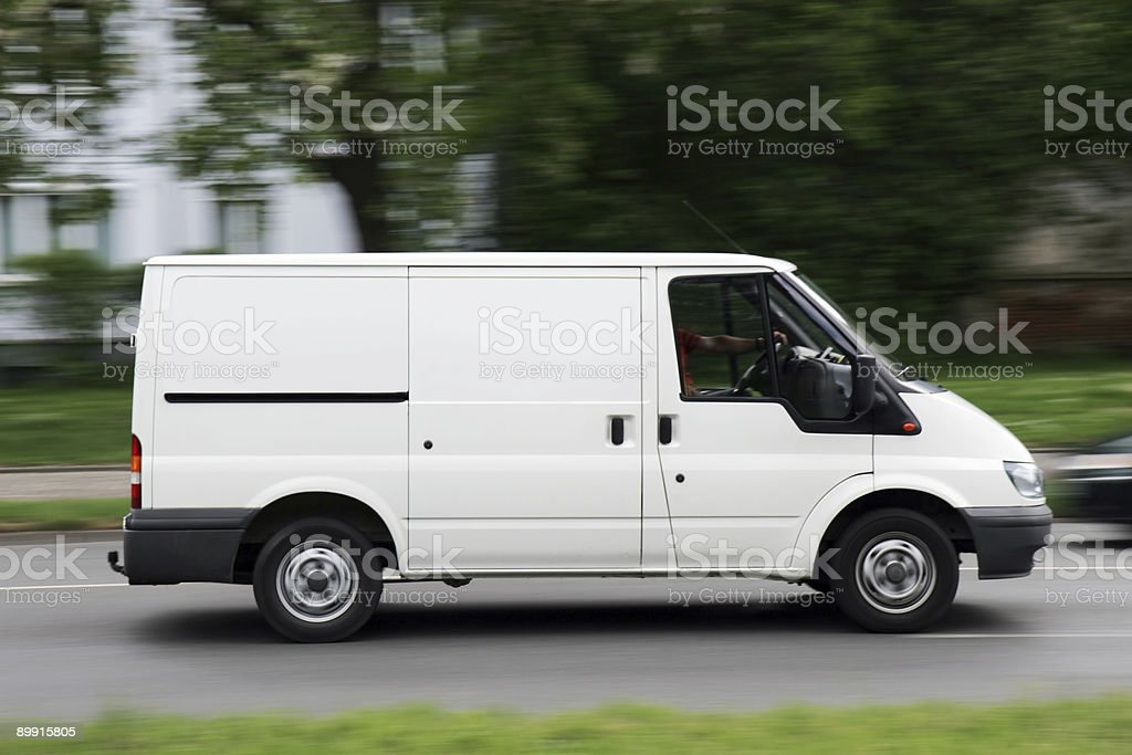 blank Transporter / Van speeding royalty-free stock photo